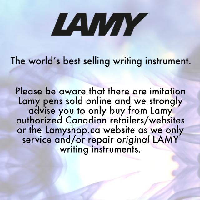 Beware of fakes. Buy Original LAMY pens