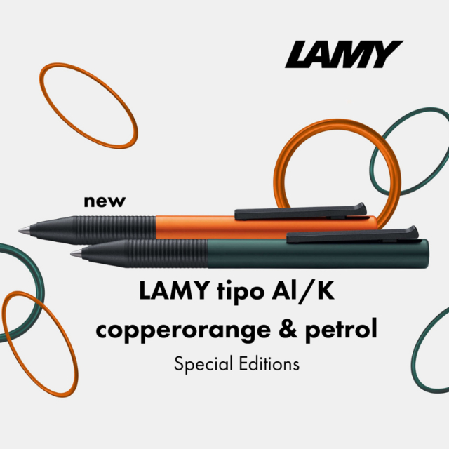 LAMY tipo copperorange and petrol
